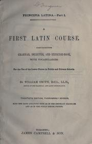 Cover of: A first Latin course