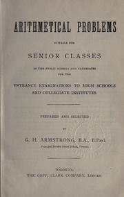 Cover of: Arithmetical problems | George Henry Armstrong