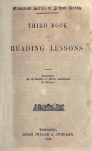 Cover of: Third book of reading lessons | Ontario. Council of Public Instruction.