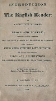 Cover of: Introduction to the English reader