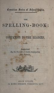 Cover of: The spelling-book |