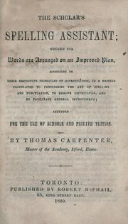 The scholar's spelling assistant by Carpenter, Thomas.