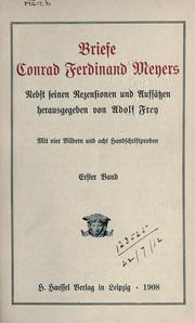 Cover of: Briefe