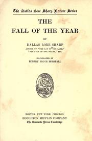 Cover of: The fall of the year