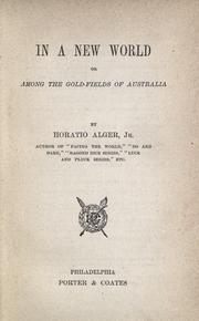 In a new world by Horatio Alger, Jr.