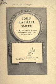 Cover of: John Raphael Smith, and the great mezzotinters of the time of Reynolds