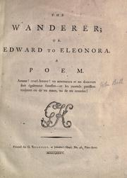 Cover of: The wanderer; or, Edward to Eleonora