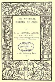Cover of: The natural history of coal