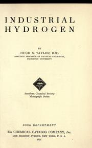 Cover of: Industrial hydrogen