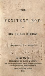 Cover of: The Penitent boy by