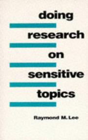 Cover of: Doing research on sensitive topics