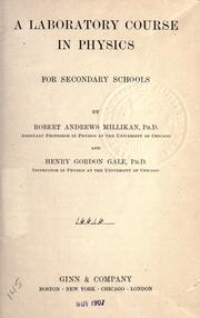Cover of: A laboratory course in physics for secondary schools