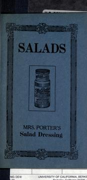Cover of: Salads |