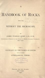 A handbook of rocks by Kemp, James Furman