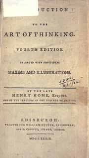Cover of: Introduction to the art of thinking