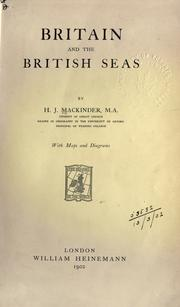 Britain and the British seas by Mackinder, Halford John Sir
