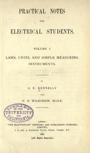 Cover of: Practical notes for electrical students ..