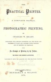 Cover of: The practical printer | Charles W. Hearn