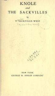Cover of: Knole and the Sackvilles