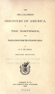 Cover of: The pre-Columbian discovery of America