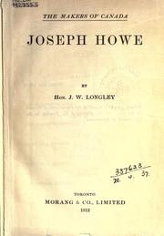 Cover of: Joseph Howe