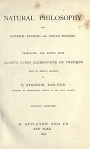 Cover of: Natural philosophy for general readers and young persons