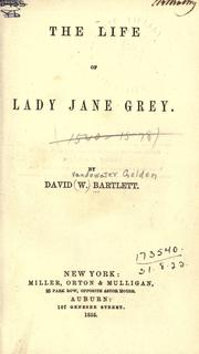 Cover of: The life of Lady Jane Grey