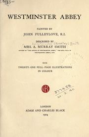Cover of: Westminster Abbey