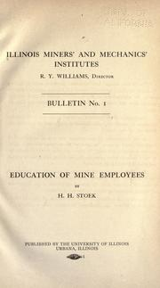 Cover of: Education of mine employees