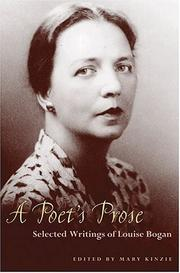 Cover of: A poet's prose