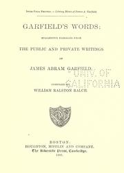 Cover of: Garfield's words