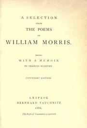 Cover of: A selection from the poems of William Morris |