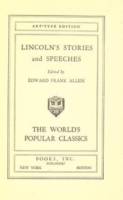 Cover of: Lincoln's stories and speeches