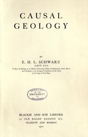 Cover of: Causal geology