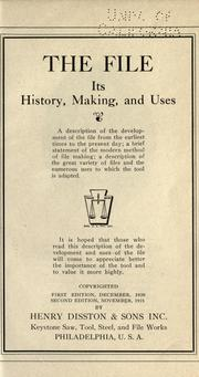 Cover of: The file in history