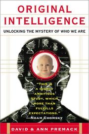 Cover of: Original intelligence | David Premack