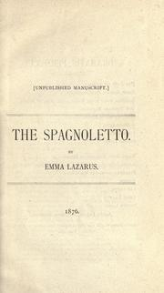 Cover of: The Spagnoletto