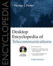 Cover of: Desktop encyclopedia of telecommunications | Nathan J. Muller