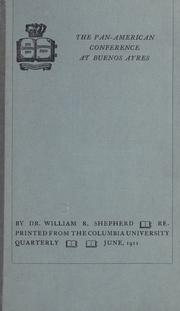 Cover of: The Pan-American conference at Buenos Aires