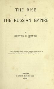 Cover of: The rise of the Russian empire