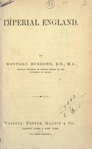 Cover of: Imperial England