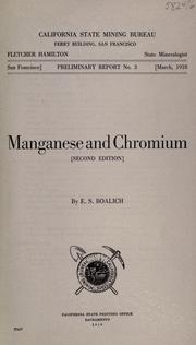Cover of: Manganese and chromium
