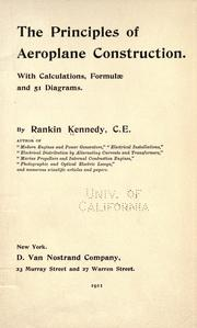 Cover of: The principles of aeroplane construction