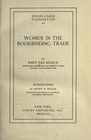 Cover of: Women in the bookbinding trade
