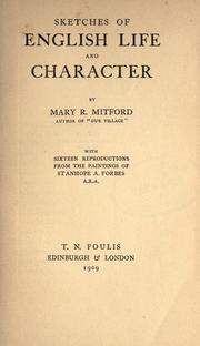 Cover of: Sketches of English life and character
