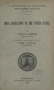 Cover of: Drug legislation in the United States