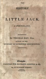 The history of Little Jack, a foundling by Day, Thomas