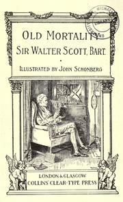Old Mortality by Sir Walter Scott