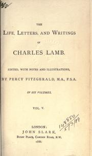 Cover of: The life, letters, and writings of Charles Lamb