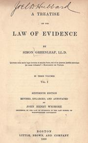 A treatise on the law of evidence by Simon Greenleaf